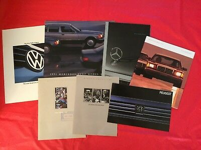 LOT 7 Mercedes-Benz Peugeot Volkswagen Car Dealer Sales Brochures