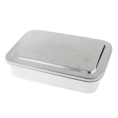 Stainless Steel Surgical Instrument Box Dental Tools Box Disinfection Tray