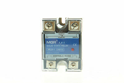 1Pcs 10A Solid State Relay SSR DC-AC Input 3-32V/DC Output 24-480V/AC New