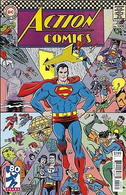 Superman Action Comics issue 1000 Limited 1960's Decades variant
