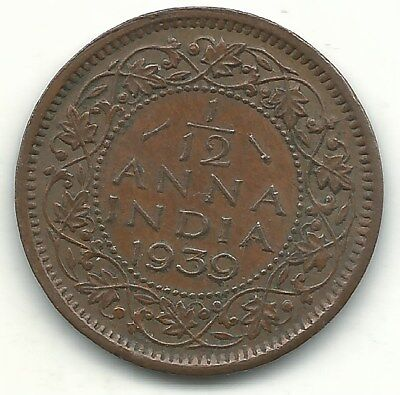 Higher Grade 1939 C India 1/12 Anna Coin-May462