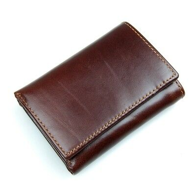 J.M.D Men's Natural Leather Wallet Credit Cards ID Windows Trifold RFID Handmade
