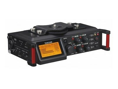 TASCAM DR-70D 4-Track Audio Recorder for DSLR with XLR Inputs and a Stereo Mic