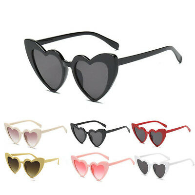 Fashion Women's Lady Sunglasses Heart Shaped Large Glasses Party Summer Anti UV