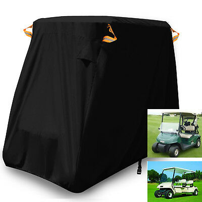 2/4 Seat Passenger Waterproof Golf Cart Cover Fits EZ GO Club Car Yamaha Storage