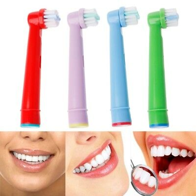 Cute 4pcs Generic Oral-B Kids Replacement Electric Toothbrush Brush Heads