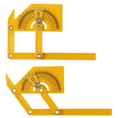 "6""Angle Finder Protractor Goniometer Carpentry Ruler Tool Plastic Brass Fittings"