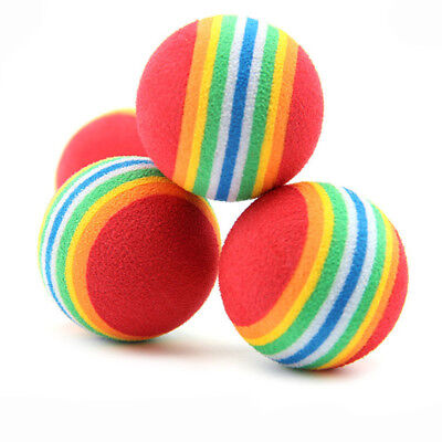 6Pcs Pet Cat Kitten Soft Foam Rainbow Play Balls Funny Activity Toys EVA Balls