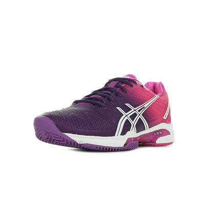 Chaussures Asics femme Gel Solution Speed Tennis taille Rose Textile Lacets