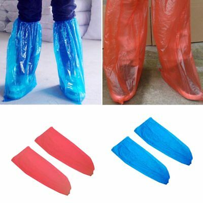 5 Pairs Waterproof Thick Plastic Disposable Rain Shoe Covers High-Top  New.AU