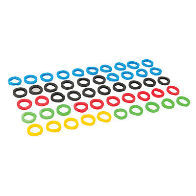 Silverline 431620 Coloured Plastic Key Covers (50 Pack)
