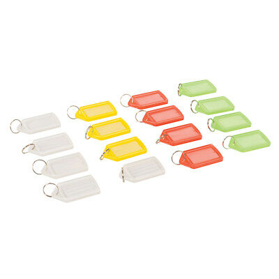 Silverline 334864 Coloured Large Key Tags (16 Pack)