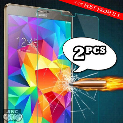 2 X Tempered Glass Screen Protector for Samsung Galaxy Tab 4 Tab4 8.0 SM-T337T
