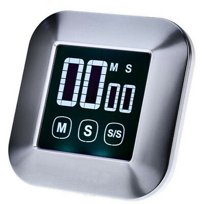Magnetic LCD Digital Touch Screen Kitchen Cooking Timer Count Down/Up Alarm Stop