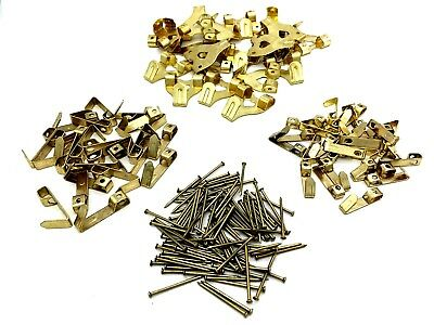 Assorted Picture Hooks Brass Plated Hook Picture Frame Hanging Pins (521)