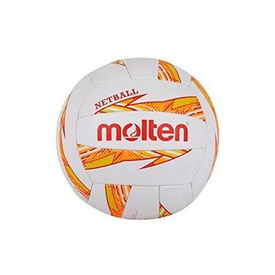 Molten Dynamite Netball, Orange, Size 5 - Nyoy Netball Rubber Recreational Level