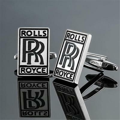 W2282...cufflinks - Rolls Royce Car Badge - Gift Bag - Free Uk P&p