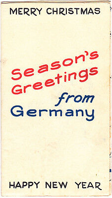 1944 - 7th INFANTRY DIVISION Christmas Card GERMANY