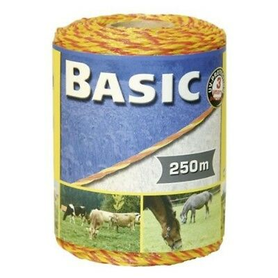 Corral Basic Fencing Polywire Yellow/orange x 250 Metres - 250m Equine Horse