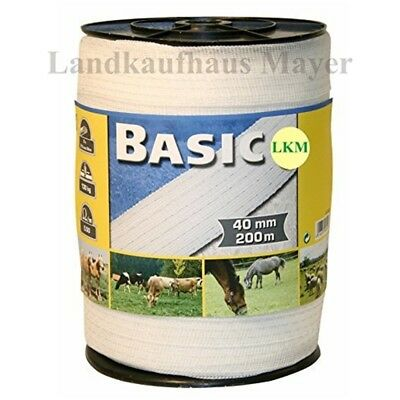 Corral Basic Fencing Tape White 200m x 40mm - Equine Horse