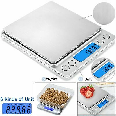 LCD Digital Electronic Kitchen Food Weighing Scales Jewellery 0.01g-500g UKDC