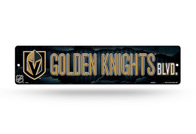 """Vegas Golden Knights Official NHL 16"""" x 4"""" Street Wall Sign 16x4 by Rico 317889"""
