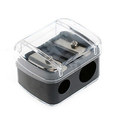 Double-hole Powerful Turning Makeup Pencil Student Office School Pen Sharpener
