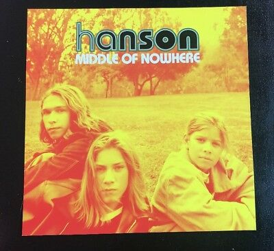 """Hanson Middle Of Nowhere 1997 Original Promo Poster 12""""X12"""" MINT CONDITION"""