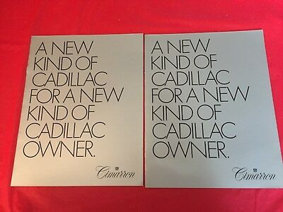 "k. LOT 2--1982 Cadillac ""Cimarron"" Car Dealer Sales Brochures"