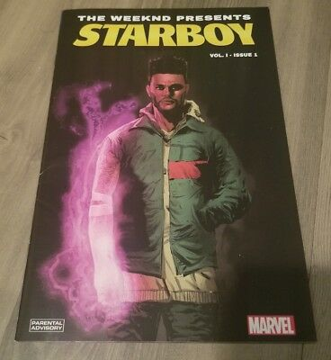 MARVEL THE WEEKND Starboy Vol 1 Comic Book Rare Variant Cover Limited Cgc  It 2