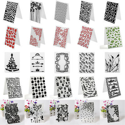 36Type DIY Embossing Folder Plastic Template Die Cutting Scrapbooking Album Card