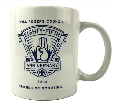 Boy Scouts BSA Will Rogers Council 85th Anniversary 1995 Coffee Cup Mug