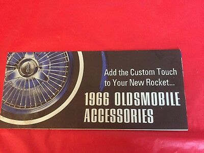 "x. 1966 Oldsmobile ""Accessories"" Car Dealer Sales Brochure"