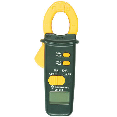 Greenlee CM-330 400-Amp AC Durable LCD Compact Measuring Clampmeter