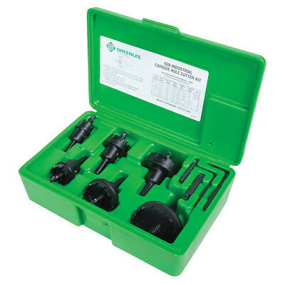 Greenlee 628 Industrial Carbide Hole Cutter Kit for 1/2 - 2-Inch Conduit - 8pc