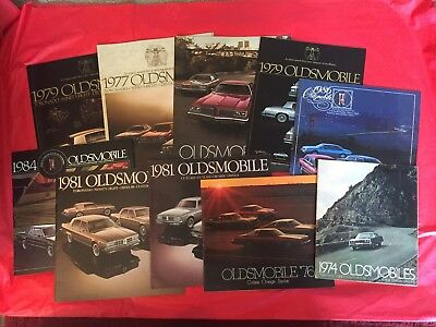 LOT 10---Oldsmobile Car Dealer Sales Brochures Toronado Cutlass Starfire