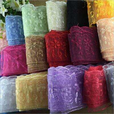 15Yards embroidery Lace Wedding dress clothing accesories DIY Sewing craft 6.5cm