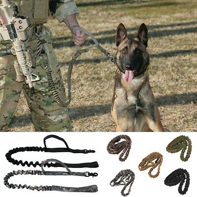 Training Leash Bungee Canine Miltary Dog Canine Tactical Leads Belt Elastic New