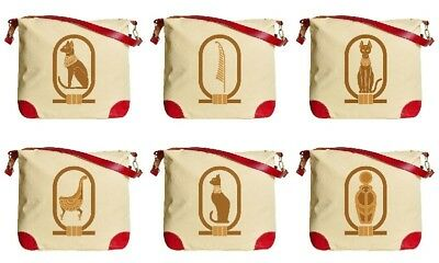 Egyptian Icons  Beige Printed Canvas Tote Bag Shoulder Bag WAS_33