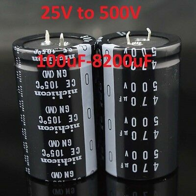 Large Snap-in Radial Electrolytic Capacitors / Various Value and Voltage