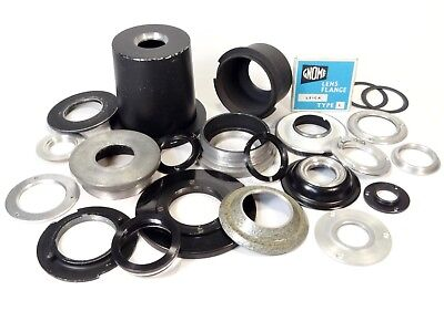 Job Lot of Enlarging Lens Flanges and Holders - All shapes and sizes - Bargain!