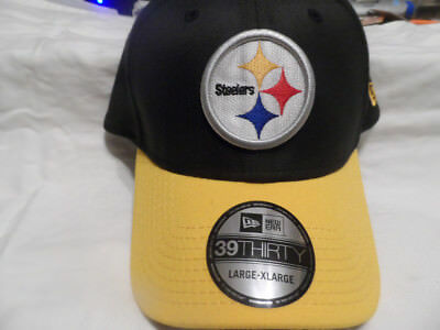 ... pittsburgh steeler hat cap new era 39thirty size l xl stretch fit black  gold ed8bc where to buy new era pittsburgh steelers baycik shield black  yellow ... 82960eee8