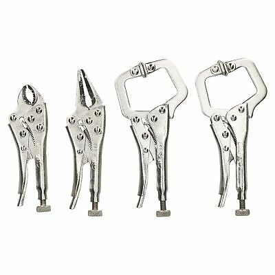 4pc Mini Welding Clamp Pliers Fast Quick Release Fastener C Clamp Long Nose