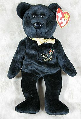 "TY Beanie Baby ""The End"" Bear Retired 1999 With Rare Flat Tag"