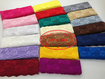 1 yard, Flower Stretch Lace Trim Ribbon Elastic lace Sewing Handicraft DIY FL158