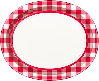 SUMMER Red Check EXTRA LARGE OVAL PLATES (8) ~ Birthday Party Supplies Dinner  sc 1 st  PicClick UK & EID MUBARAK EXTRA LARGE OVAL PAPER PLATES (8) ~ Ramadan Birthday ...