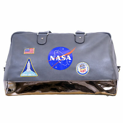 NASA Lifestyle Travel Grey Accessory Duffel Bag