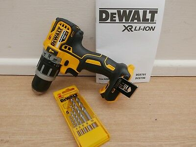 Dewalt Dcd796 18V Xr Brushless Combi Hammer Drill Bare Unit + Dt6952 Set