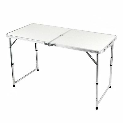 New Folding Outdoor Camping Table Portable Garden Trestle Storage Kitchen Table