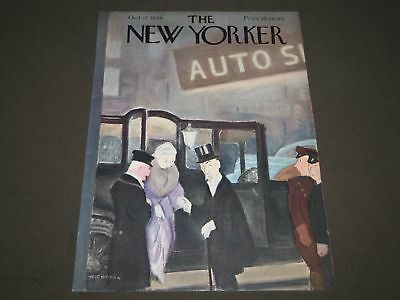 1940 October 12 New Yorker Magazine Front Cover Only - Great Illustrated Art